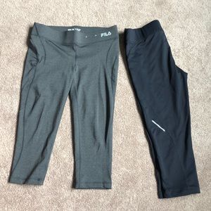 Fila workout capris